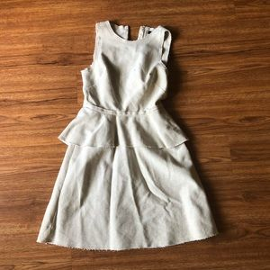Burlap Peplum Sleeveless Banana Republic Dress